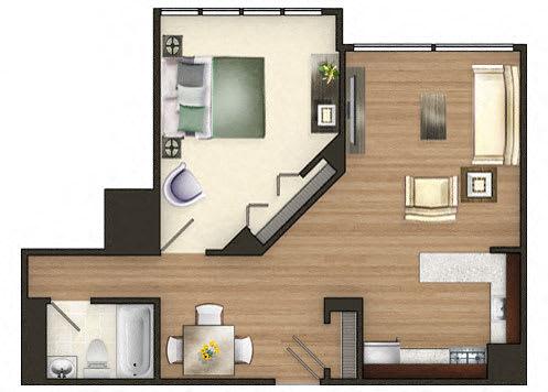 TheMark_OneBedroom_A1_MK