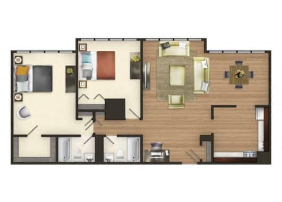The Harbor - 2 Bedroom Apartment at The Mark Apartments, Alexandria, VA, 22304