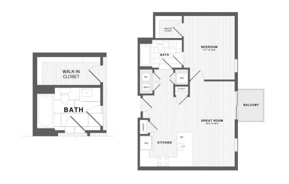Floor Plan  New City Avenue apartments