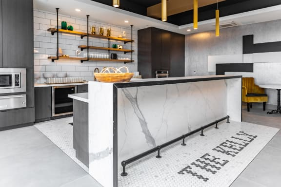 Luxury apartment cafe
