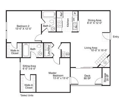 Floor Plan  B2R Floor Plan at The Watch on Shem Creek, Mt. Pleasant, 29464