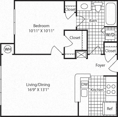 Floor Plan  A1A Floor Plan at Westerly at Worldgate, Virginia
