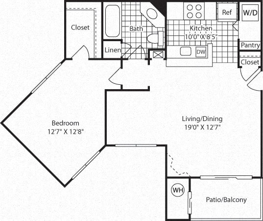 Floor Plan  A5A Floor Plan at Westerly at Worldgate, Herndon, Virginia