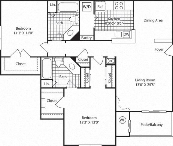B5B Floor Plan at Westerly at Worldgate, Virginia
