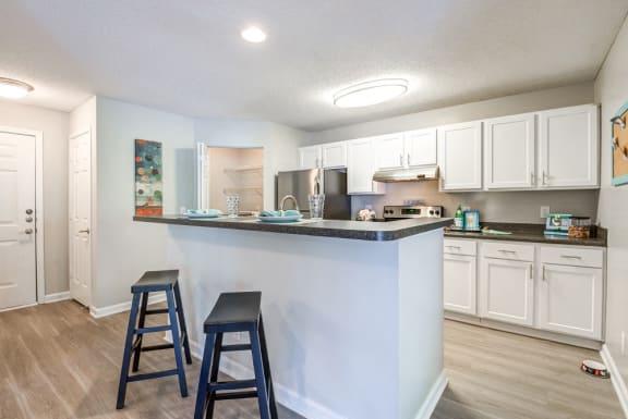 Kitchen Island at The Village Apartments, North Carolina