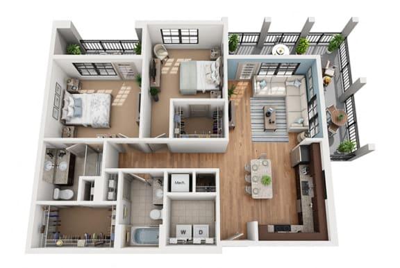 Floor Plan  Floor Plan at Azul Baldwin Park, Orlando, 32814