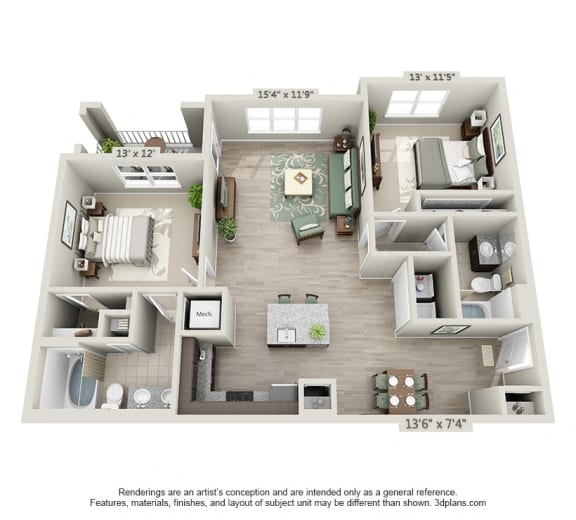 Floor Plan  The Peachtree