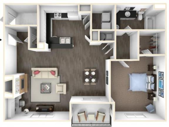 Floor Plan  1X1DR