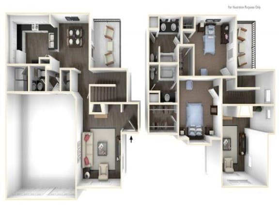 Floor Plan  2X2TH