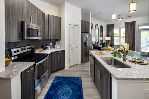 Stainless Steel Appliance Package at The Flats at Ballantyne Apartments, North Carolina, 28277