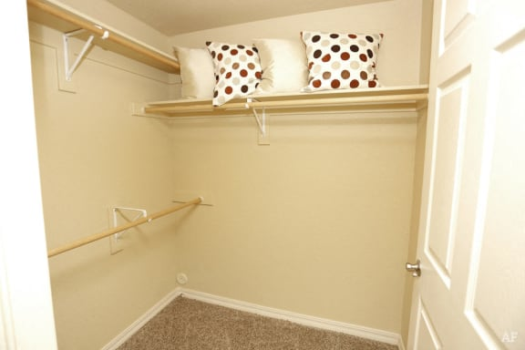 Generous Walk-In Closets With Shelving at The Preserve at Rock Springs, Rock Springs, WY, 82901