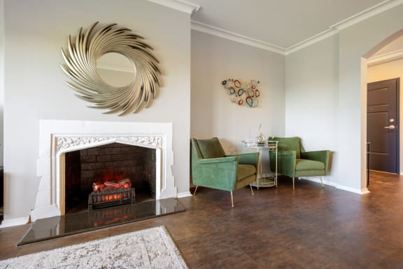 Fireplace Sitting Area at Park Heights by the Lake Apartments, Chicago, 60649