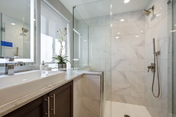 Walk-In Showers at Park Heights by the Lake Apartments, Chicago