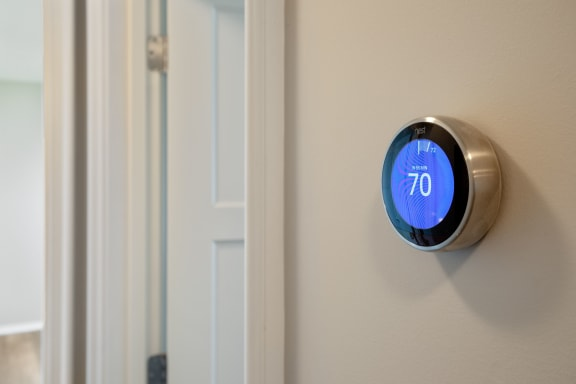 Nest Thermostats with Individually Controlled Central Heating and Cooling at Park Heights by the Lake Apartments, Chicago, Illinois