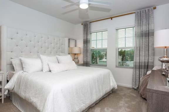 Bedroom With Ceiling Fan at Oasis at Shingle Creek, Florida, 34746