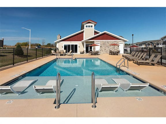 Lounge Swimming Pools With Cabana at Cedar Place Apartments, Cedarburg, 53012