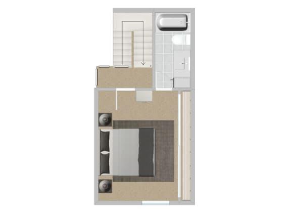 Eucalyptus  bedroom at Solterra at Civic Center, Norwalk, CA, 90650