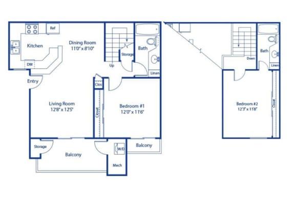 Eucalyptus 2 bedroom 2 bath at Solterra at Civic Center, Norwalk, 90650