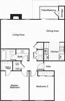 Sorelle black and white 2D floor plan image B1