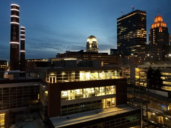Spectacular Skyline Night View  at Link Apartments Innovation Quarter, Winston-Salem, 27101