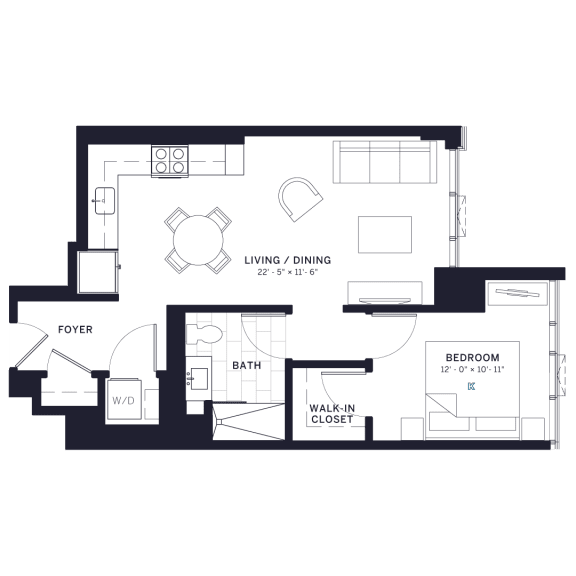 Lincoln Common Affordable One Bedroom Floor Plan