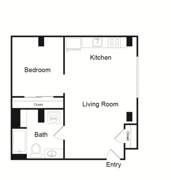 Floor Plan  1 Bed E2
