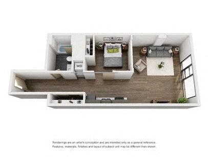 Floor Plan  1 Bed F