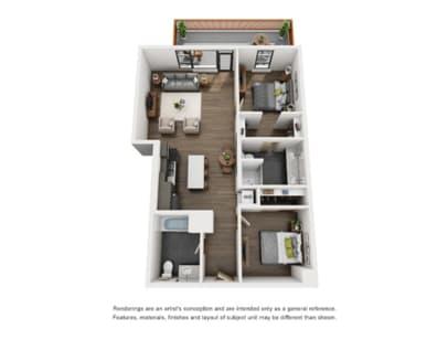 Floor Plan  2 Bed A