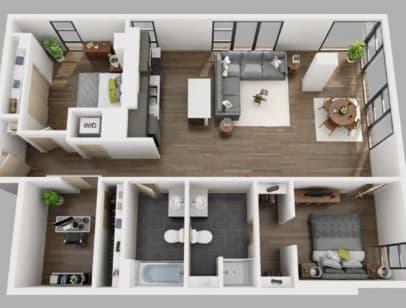 Floor Plan  3 Bed A