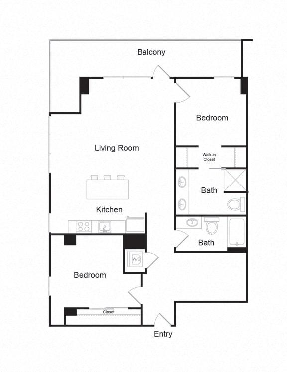 Floor Plan  Couch9FP_D_2b2b_1221sf