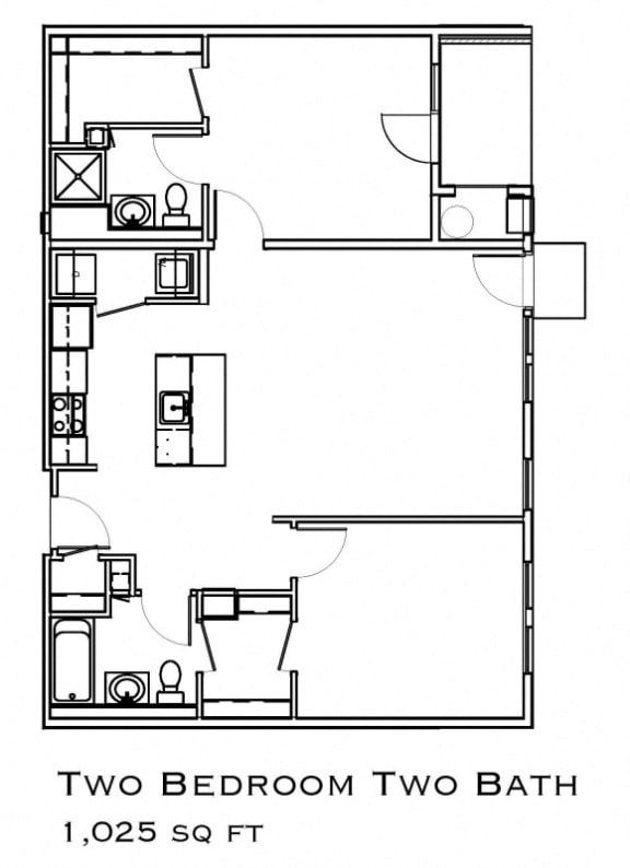 Two Bed Floorplan Layout
