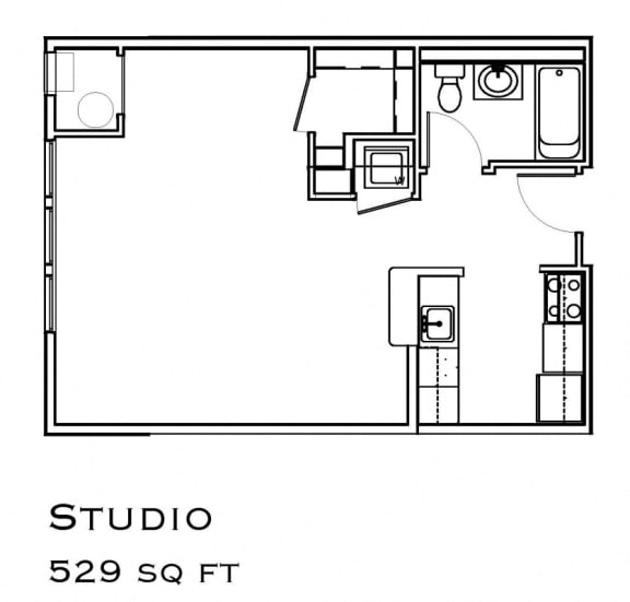 Floor Plan  The Commons Studio Layout