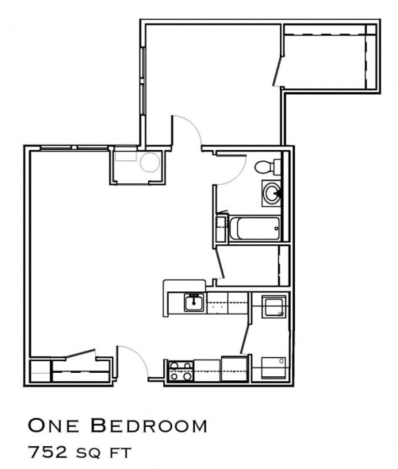 Rent a One Bedroom at The Commons at SouthField