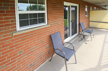 This is a photo of the patio at Lake of the Woods Apartments in Cincinnati, OH.