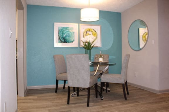 separate dining area with table and chairs at The VUE at Crestwood Apartments, Alabama, 35212