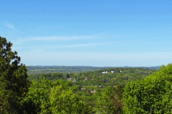 view of the birmingham area from deck at The VUE at Crestwood Apartments, Birmingham
