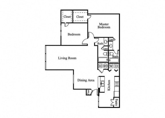 Floor Plan  the palm large bedroom