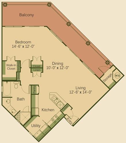 1 CD Floor Plan at Muir Lake, Cedar Park