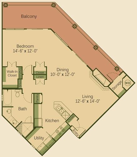 1 CD Floor Plan at Muir Lake, Texas