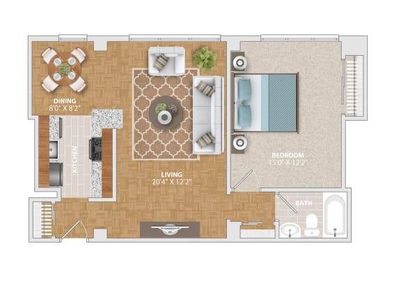 The Belle Haven floorplan at Bridgeyard Old Town