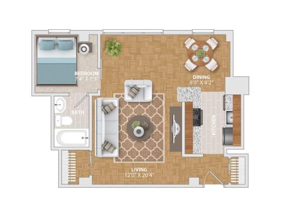 The Yardley floorplan at Bridgeyard Old Town