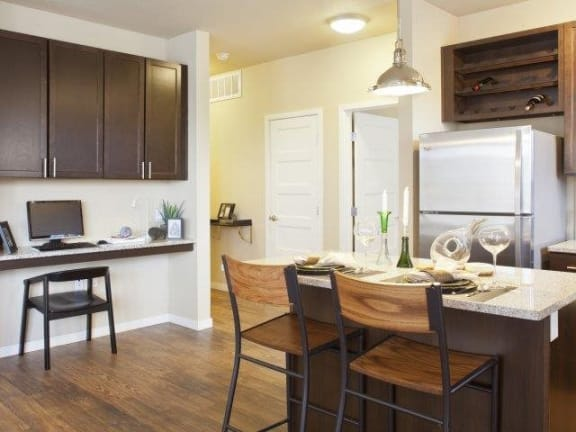 Kitchen and Dining l Louisville, CO apartments for rent l North Main at Steel Ranch Rentals
