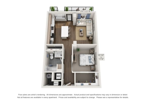 large apartment layout for luxury living in denver