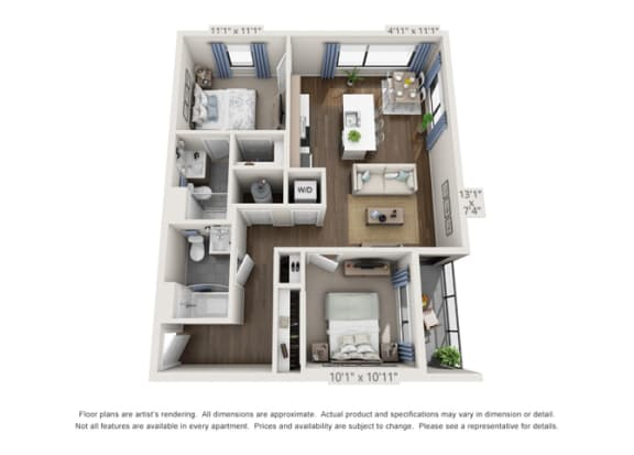 apartment layout for rent in denver