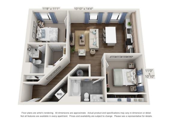 corner unit of apartment building near denver