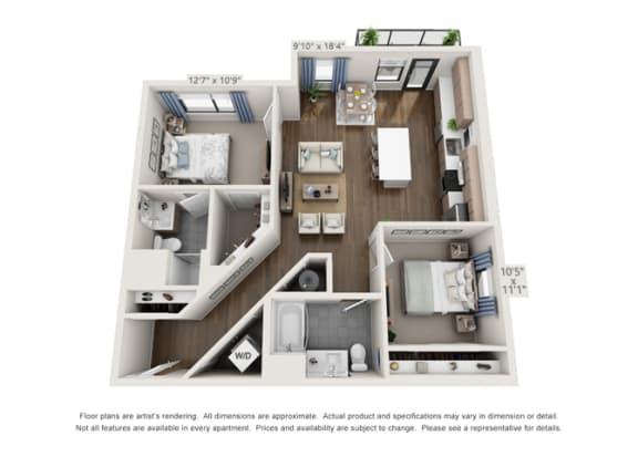 corner unit of luxury apartment units in denver colorado