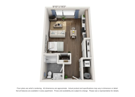 modern layout for apartment unit in denver