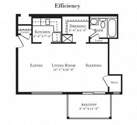 Floor plan at Tuscarora Creek, Virginia