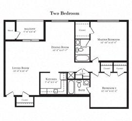 Floor plan at Tuscarora Creek, Leesburg