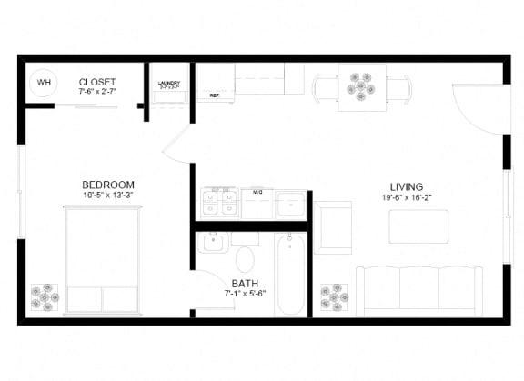 Floor Plan  Holgate Lofts One Bedroom Floor Plan